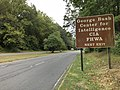 2019-09-14 16 09 04 View south along the George Washington Memorial Parkway at the exit for the George Bush Center for Intelligence, Central Intelligence Agency and Federal Highway Administration in McLean, Fairfax County, Virginia.jpg