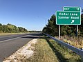 2019-09-25 16 08 35 View east along Maryland State Route 32 (Patuxent Freeway) at Exit 17 (Cedar Lane, Sanner Road) in Columbia, Howard County, Maryland.jpg