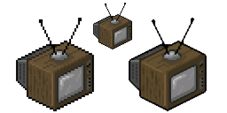 Image scaling - An image scaled with nearest-neighbor scaling (left) and 2×SaI scaling (right)