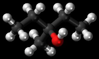 3-Methyl-3-pentanol - Image: 3 Methyl 3 pentanol molecule ball