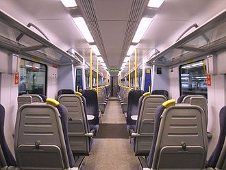 British Rail Class 350 - The neutral colour scheme interior of the Class 350/1