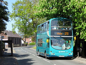 Scarisbrick - 375 bus service from Southport to Wigan, operated by Arriva North West.