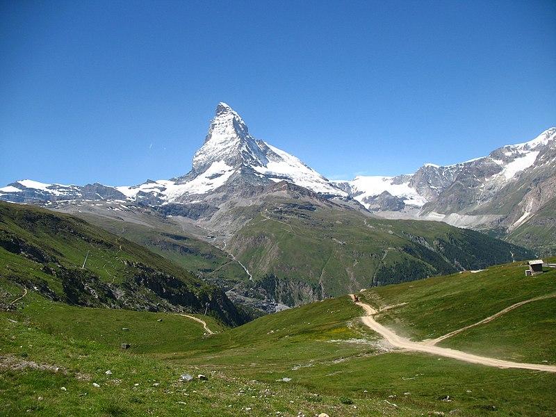 File:3820 - Riffelberg - Matterhorn viewed from Gornergratbahn.JPG