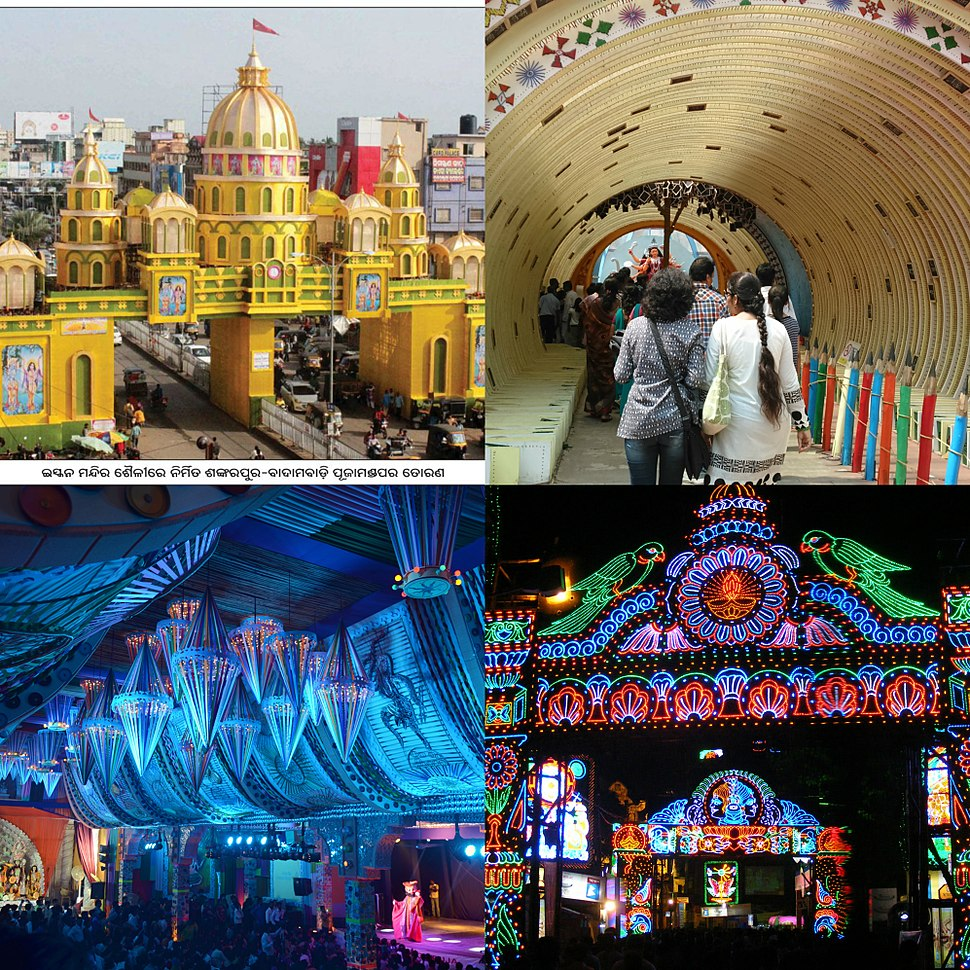 4 Durga puja decorations collage