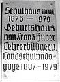 6413, Gedenktafel für Prof. Franz Huber; memorial tablet for professor Franz Huber ,.jpg
