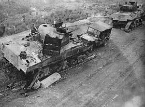 6th Armoured Division (South Africa) - Image: 6SADiv Tanks disabled Perugia