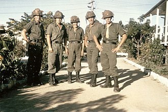 6th Battalion, Royal Australian Regiment - Five national servicemen assigned to 6 RAR photographed shortly before they and the battalion were deployed to South Vietnam in 1966