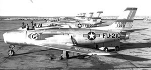 Eastern Air Defense Force -  71st Fighter-Interceptor Squadron North American F-86A Sabres attached to EADF, 1950. Aircraft identified: North American F-86A-5-NA Sabre 48-210 North American F-86A-5-NA Sabre 48-201 North American F-86A-5-NA Sabre 48-151