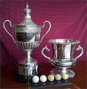 Seaton Carew Golf Club - LH 8th Gray Trophy donated 1907 by Mrs Matthew Gray, RH 7th Gray Trophy donated by William Gray 1905 to Seaton Carew Golf Club