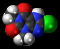 8-Chlorotheophylline 3D spacefill.png