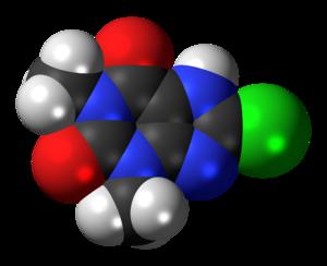 8-Chlorotheophylline - Image: 8 Chlorotheophylline 3D spacefill