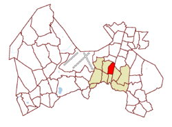 Location on the map of Vantaa