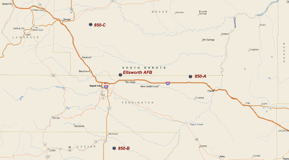 850th Strategic Missile Squadron - Titan I Missile Sites