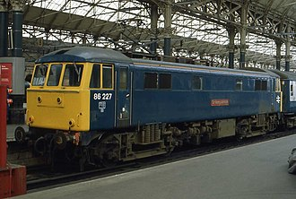 Flexicoil suspension - A BR Class 86/2 at Manchester Piccadilly.