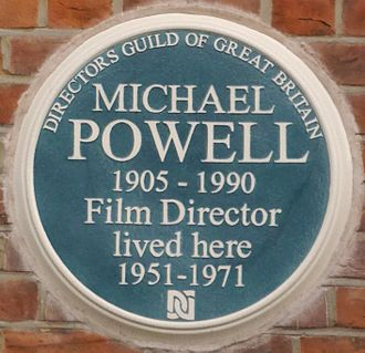 Michael Powell - 8 Melbury Road plaque