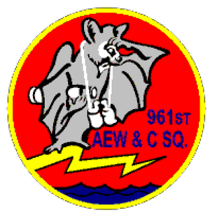 961st Airborne Air Control Squadron - Image: 961 Airborne Early Warning & Control Sq emblem