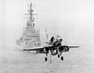 A-4C VA-195 approaching carrier in the 1960s.jpg