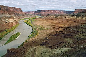 White Rim Road - Green River from Hardscrabble Hill