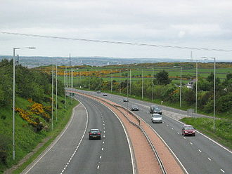 A90 road - The A90 south of Aberdeen