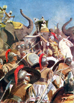 ALEXANDER'S BATTLE WITH PORUS ON THE JHELUM..png