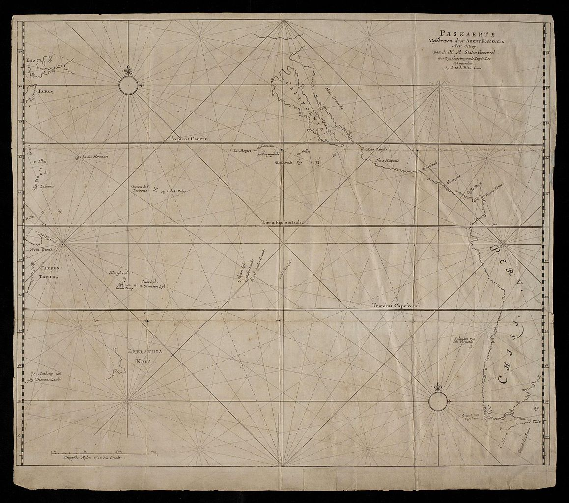 Sea Chart: AMH-8591-NA Sea chart of the west coast of North and South ,Chart