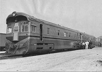 Super Chief - The EMC Nos. 1 and 1A depicted on August 31, 1935.