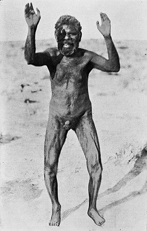 "Kurdaitcha - A ""boned"" man, of the Mirning people"