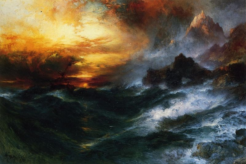 Famous Seascape Paintings Thomas Moran