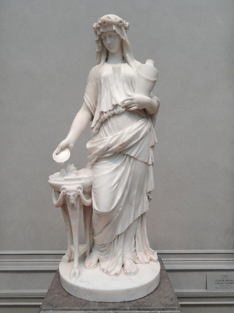 A Vestal by Claude Michel, called Clodion, 1770, marble - National Gallery of Art, Washington - DSC09985.JPG