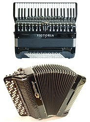 An accordion