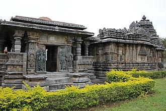 Bucesvara Temple, Koravangala - Bucesvara temple at Koravangla, view from the south-west