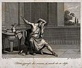 A remorseful Pilate prepares to kill himself. Engraving by G Wellcome V0034470.jpg