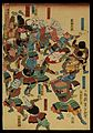 A riot of samurai, their heads replaced by objects. Wellcome L0075414.jpg