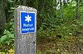 A sign of the nature reserve Hästhagen-Kilholmen, Upplandsleden, Sweden 12.jpg