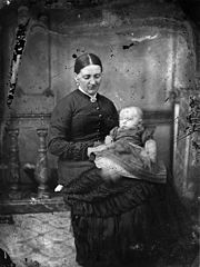 A woman and a child NLW3364679.jpg