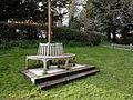 Abbess Roding - roadside public bench - Essex England.jpg