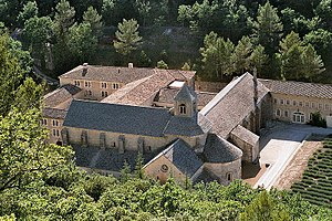 Abbey of Senanque, located in France, Provence, Vaucluse, Gordes village.