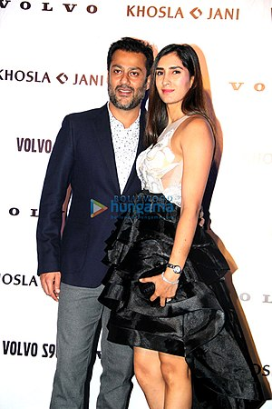 Abhishek Kapoor - Kapoor and Pragya Yadav at Abu Jani-Sandeep Khosla show for 'Volvo S90'