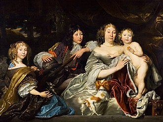 Abraham Lambertsz van den Tempel - Princess Albertina of Orange with children