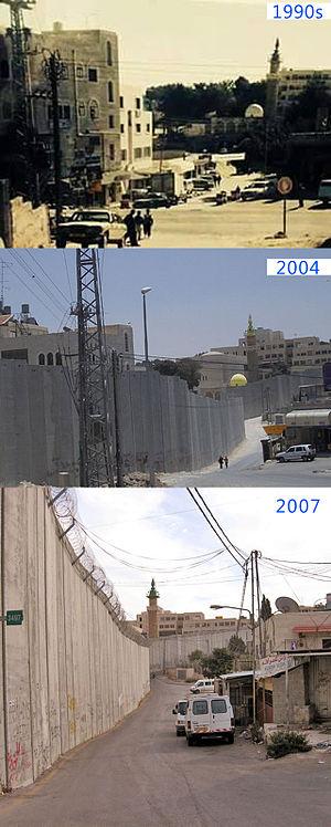 Abu Dis - Image: Abu Dis Wall time Line
