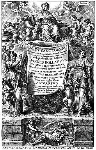 Bollandist - Acta Sanctorum (IANUARIUS 1643)