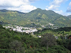 Adjuntas, Puerto Rico - View of Adjuntas from a nearby mountain.