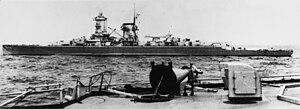 German cruiser Admiral Scheer - Admiral Scheer in 1935
