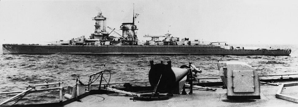 Admiral Scheer at sea c. 1935
