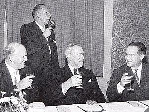 IFK Kristianstad - Adolf Johnson, founder of IFK Kristianstad (sitting in the middle)