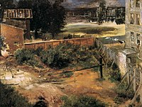 Adolph von Menzel - Rear of House and Backyard - WGA15047.jpg