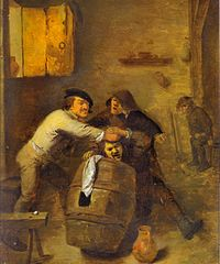 Adriaen Brouwer - Streitende Bauern in einem Wirtshaus