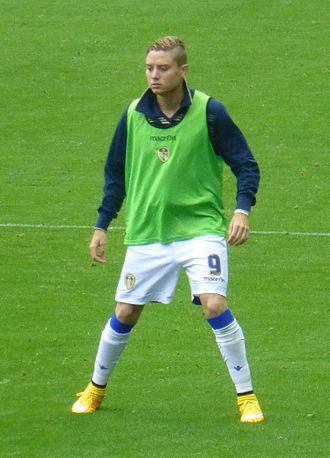 Adryan - Adryan warming up for Leeds United in 2014