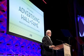 Bob Giraldi - Giraldi at his induction to the Advertising Hall of Fame in May, 2013.