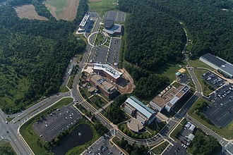Beacon Hall, Hylton Performing Arts Center, the EDGE, Life Sciences Laboratory, Discovery Hall, Occoquan Building, Freedom Aquatic and Fitness Center, Bull Run Hall, Biomedical Research Laboratory Aerial Photo of the Prince William Campus..jpg